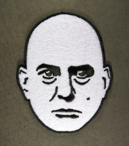 """Embroidered Aleister Crowley Head Patch Sew or Iron On 3.25/"""" Beast 666 Thelema"""