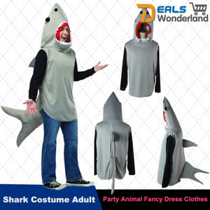 Halloween Shark Costume Cosplay Adult Party Animal Fancy Dress Clothes Unisex 6950778931898
