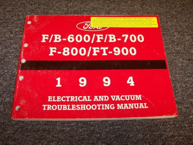 1994 Ford F600 F700 F800 Ft900 Truck Electrical Wiring