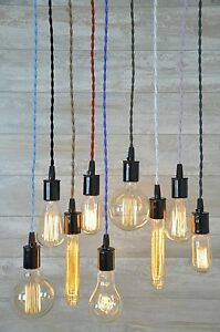 Cord Set With Bulb Socket 8 Foot Many Colors Ceiling