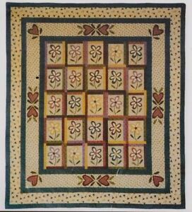 Fat-Cat-Flowers-pieced-amp-applique-quilt-PATTERN-Little-Country-Quilts