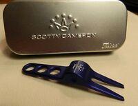 NEW Titleist Scotty Cameron Blue Divot Pivot Repair Tool and Aluminum Tin