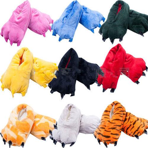 Adult Animal Shoes Slippers Paw Claw Kigurumi Pajamas Onesie Cosplay Men /Wome