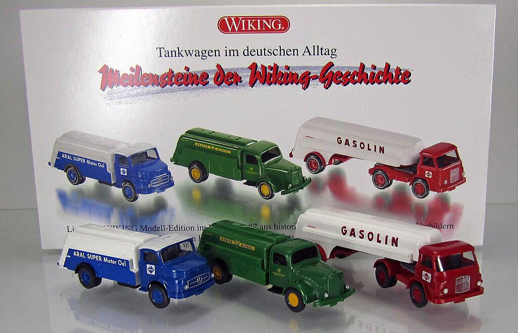 Wiking 099082 Set camion citerne en allemand quotidien Scale 1 87 Nouveau neuf dans sa boîte