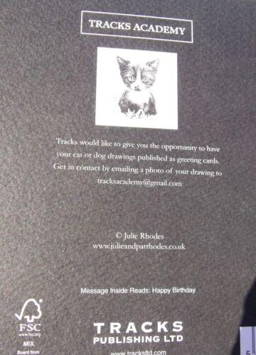 Tarjeta de cumpleaños con temática de gato de gatito gato pistas TARJETAS tema.