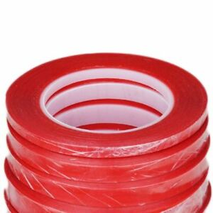 1mm 2mm 3mm 5mm 10mm Red Tape Heat Resistant Double Sided