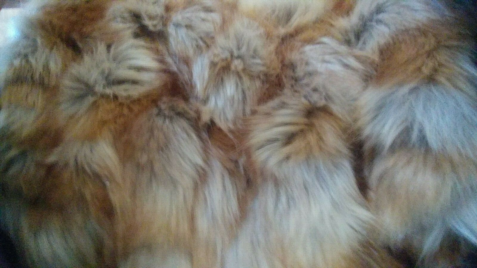 Williams Sonoma en Fausse Fourrure Couverture, 80  X 90 , Amber Fox New Wo Tag