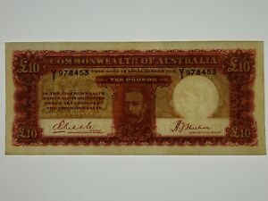 1934-Ten-Pounds-Riddle-Sheehan-Banknote-in-Almost-Very-Fine-Condition