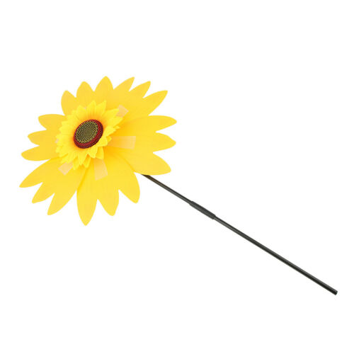 Sun Flower Windmill Wind Spinner Colourful Garden Outdoor Decoration Border