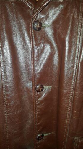 Brown Fur Kvinders 38 Knækket Frakke Excelled Jakke Størrelse Lined Blazer Læder Vtg RwwWABqFT