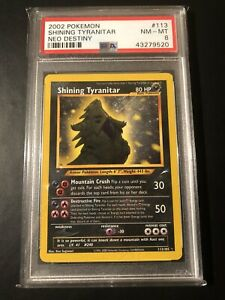 PSA 8 Shining Tyranitar 113/105 - Neo Destiny - Triple Star Secret Rare