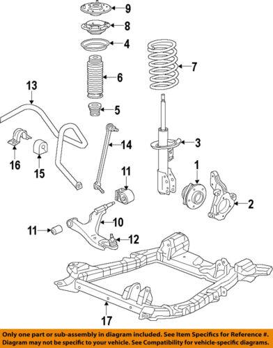 Cadillac GM OEM 2010-2016  SRX Lower Control Arm-Front-Bushings 22980140