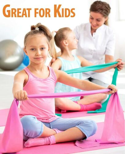 RubyStretch Set of 2 Stretch Bands for Exercise Kids /& Adults ... Gift Box