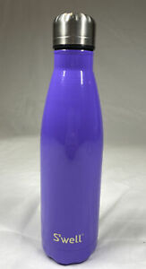 💜S'well Purple 16 Oz Stainless Steel Insulated Hot/Cold Water Bottle USA EUC
