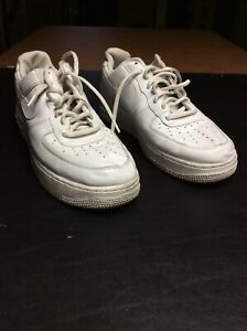 Details about Mens Nike Triple White Air Force 1 Shoes Size 12 (306353112)