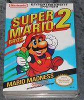 Super Mario Bros. 2 - Nes Reproduction Art Case/box No Game.