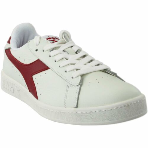 Diadora Game L Low Waxed  Casual Tennis Court Sneakers White Mens