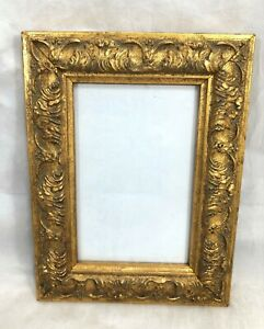 Picture-Photo-Frame-Gold-Leaf-Design-5-3-4-034-x-3-3-4-034-Picture-Desk-Wall-Mount