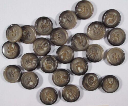 Bouton Boutons 25 Pièce beige marron boutons 17,5 mm grand #436#