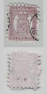 Finlande-1866-SC-12-A-utilise-roulette-II-vert-Papier-verge-c9565