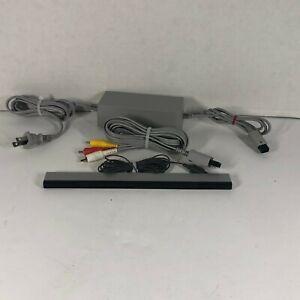 OEM-Nintendo-Wii-Cord-Bundle-AC-Power-Supply-AV-Adapter-amp-Sensor-Bar-Used