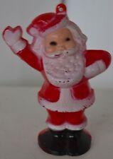 Vintage Celluloid Candy Dispenser Santa Christmas