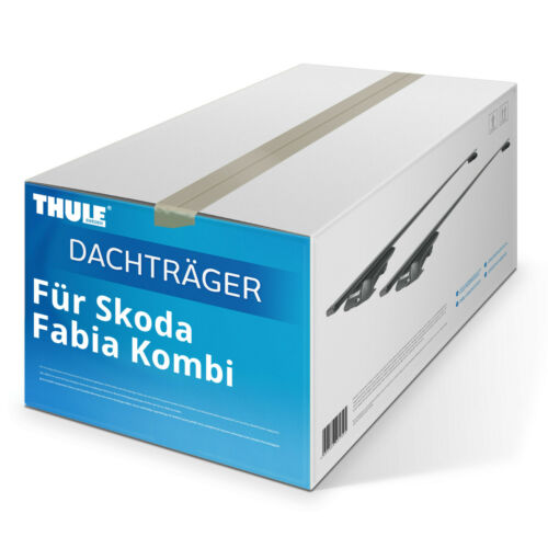 Stahl Dachträger Thule SquareBar für Skoda Fabia Kombi 01.2015-jetzt NEU TOP