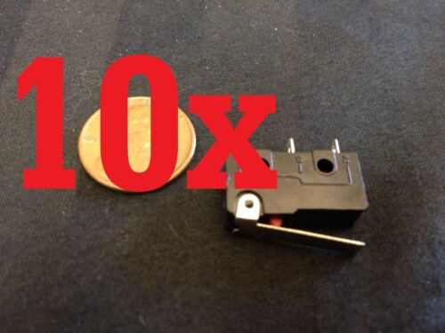 10 Pcs 10x SPDT NO Momentary nc Hinge Lever Mini Micro Switches dc kw11 kw12  a5