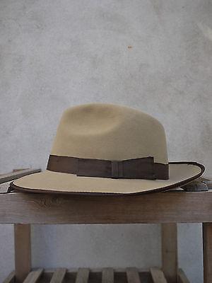 Marlborough Snap Brim Trilby Hat by Christys/' Light Brown Fur Felt *RRP £120*