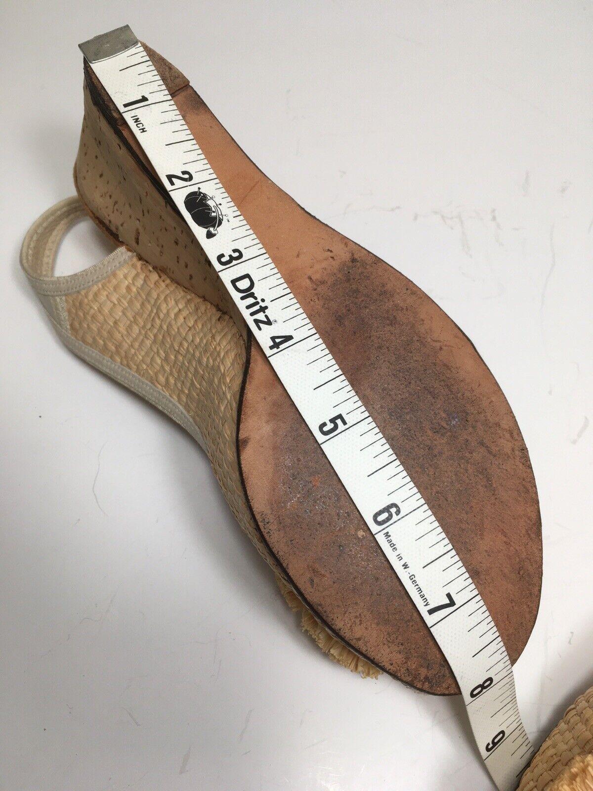 Vintage 40s Shoes Platform CORK Wedge Sandals Str… - image 10