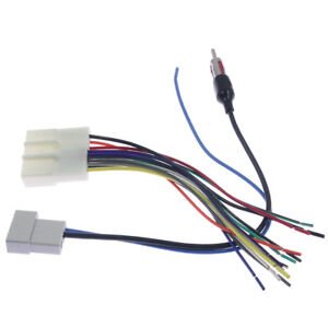 details about car stereo cd player wiring harness adapter cable radio install plug for nissan Wiring Harnes Adapter