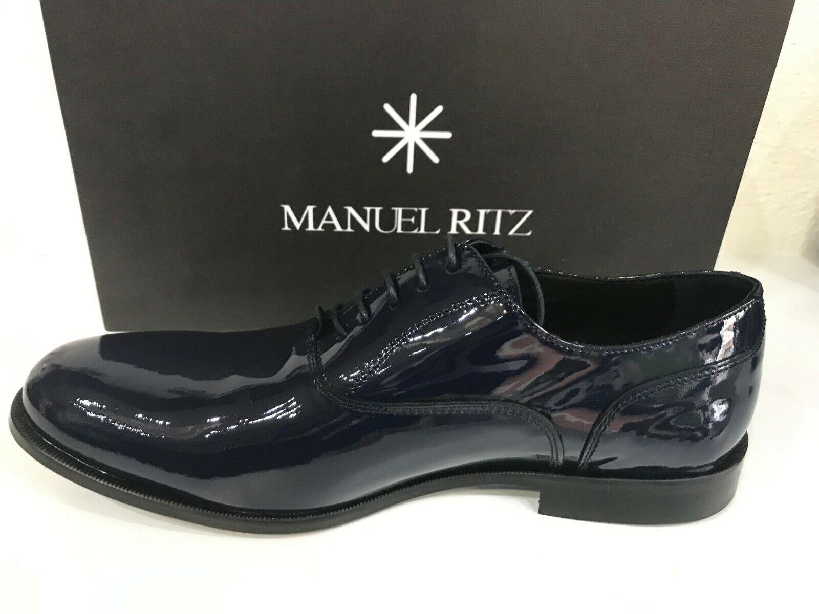 sale retailer a37d5 313c0 Manuel Ritz Schuhe N.42 Man Man Man Man Leder und Glänzend Blau   Heißer  Verkauf ef23d2
