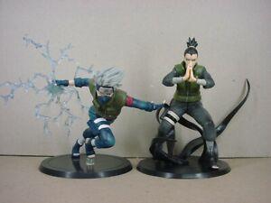 2Pcs/Set Naruto Kakashi Hatake & Shikamaru Nara Figures Action Toy Statue Gift