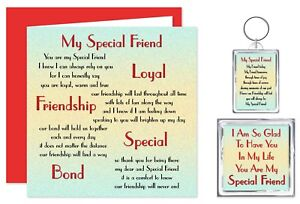 my special friend verse gift set card keyring magnet bff