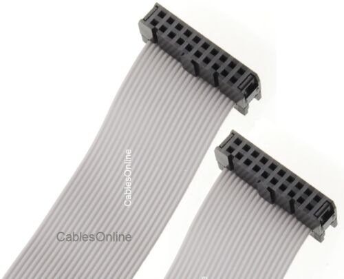 2x10 Female to Female 2.54mm-Pitch 20-wire IDC Flat Ribbon Cable 48-in 20-Pin