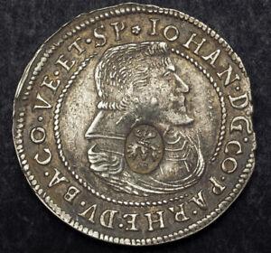 1632-Pfalz-Zweibrucken-Veldenz-John-II-Silver-1-4-Thaler-w-Rare-Countermark
