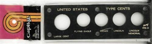 Capital Holder Plastic Case Capsule For US Type Cent Coins Black Presentation
