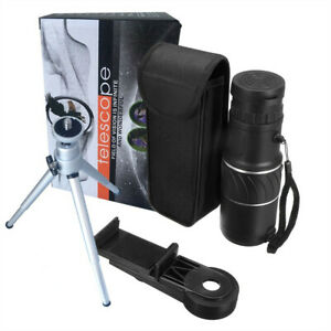 1PC-Zoom-Hiking-Monocular-Telescope-Lens-Camera-HD-Scope-Hunting-amp-Phone-Holder