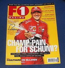 F1 RACING MAY 2005 - CHAMP-PAIN FOR SCHUMI?