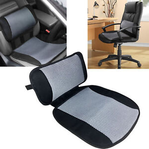Details About Airflow Car Cooling Lumbar Back Support Pillow Seat Cushion Office Chair Home