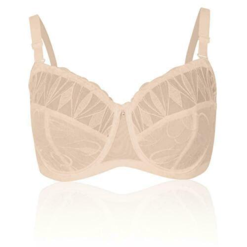 New Ex M/&S Non-Padded Underwired Strapless Bra Almond Sizes 34-44 DD-E-F-GG
