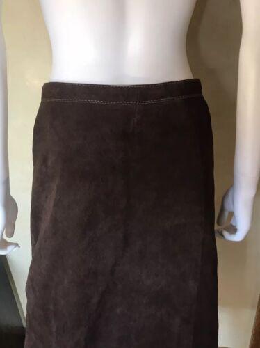 Brown Suede 8 Skirt Vintage Size Color rExwEnFXYq