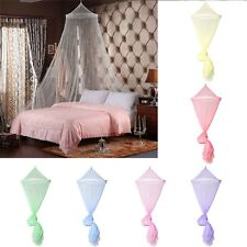 Elegant Lace Edge Round Netting Bed Canopy Mosquito Net Bedroom Decor Colors New