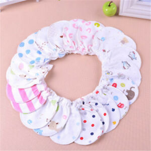 Cute Cotton Newborn Baby Infant Anti Scratch Mittens Gloves Handguard 0-6M TB
