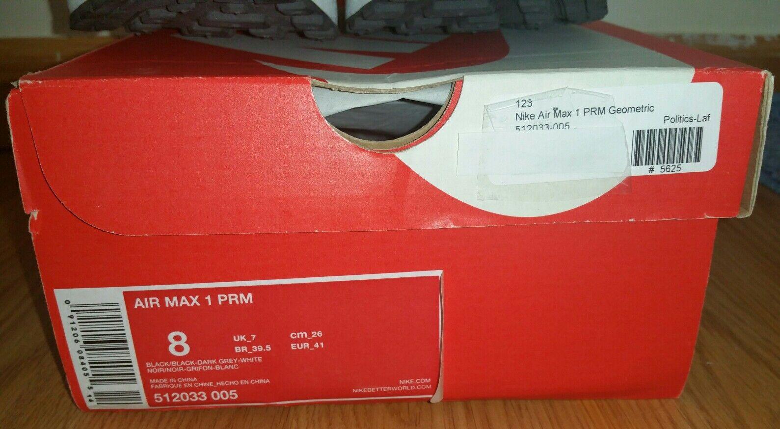 Nike Air PRM max 1 PRM Air geometric 512033-005 Black 1dd089