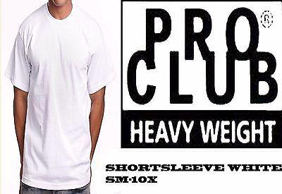 PRO CLUB HEAVYWEIGHT SHORT SLEEVE WHITE T-SHIRT SM-10X