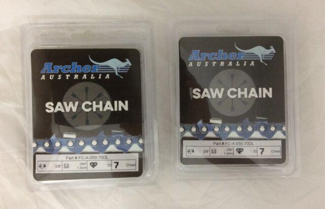 "2 Pack 20"" Chainsaw Chain 3/8-050-70DL SUXL XL12 XL925 Homelite CHISEL 72LGX070G"
