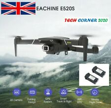 EACHINE E520S Quadcopter Drone GPS 5GHz WIFI FPV 4K HD Camera 2 Batteries. Parts