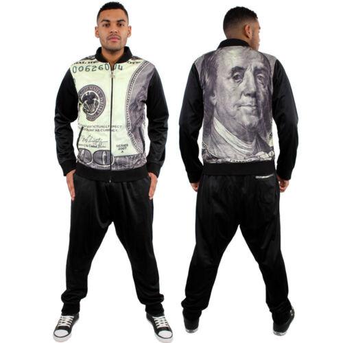 Dirty Money G bar 3d dollar star tracksuit mens hiphop urban street jogging set