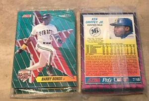 Details About Score Pg Baseball Card Factory Sealed Pack 1992 All Star Game 18 Card Set New